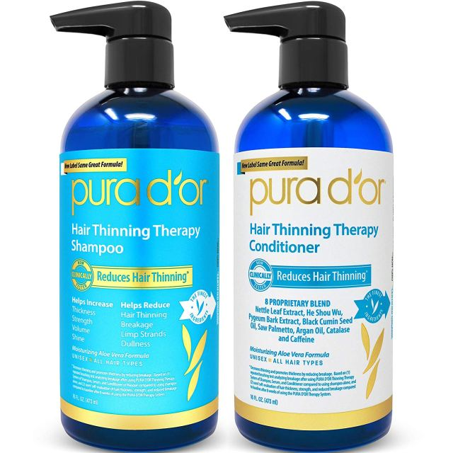 Pura d'or shampoo and conditioner review