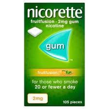 Nicorette Fruit Fusion 2mg Gum 105`s