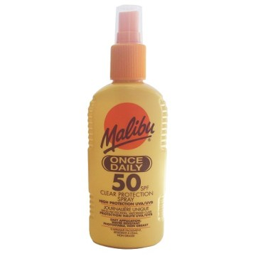 Malibu Once Daily Clear Protection Spf 50 200ml
