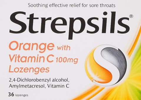 Strepsils Orange Vitamin C Lozenges 36`s