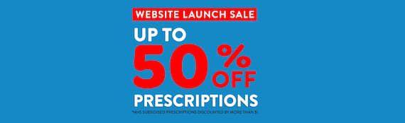 Slide 50% OFF Prescriptions