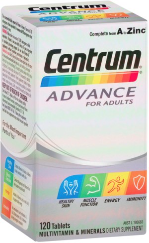 Centrum Advance For Adults Tablets 120 Pack