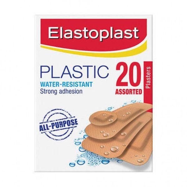 Elastoplast Plastic Water-Resistant Plasters Assorted 20 Pack