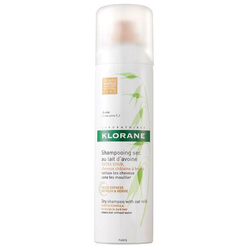 Klorane Oat Milk Dry Shampoo Spray 150mL (Brown to Dark Hair)