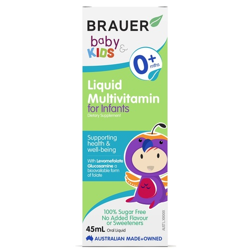 Brauer Baby & Kids Liquid Multivitamin for Infants 45mL