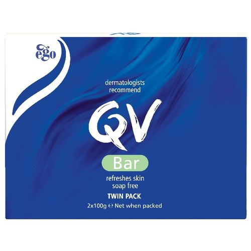 Ego QV Cleansing Bar Twin Pack 100g 3