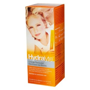 Hydralyte Rehydration Ice Blocks Orange Pack 16