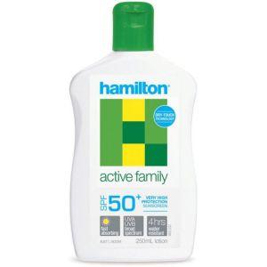 Hamilton Active Family Sunscreen SPF50+ Lotion 250ml