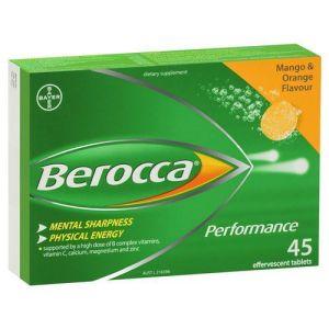 Berocca Performance 45 Effervescent Tablets Orange & Mango Flavour