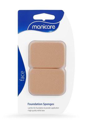 Manicare Foundation Sponges (Square) – 2 Pack