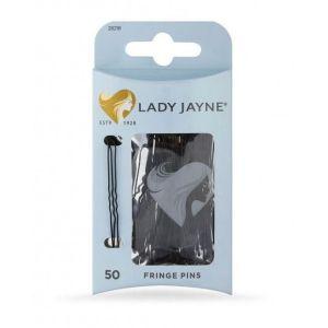 Lady Jayne Fringe Pins Black 50 Pack