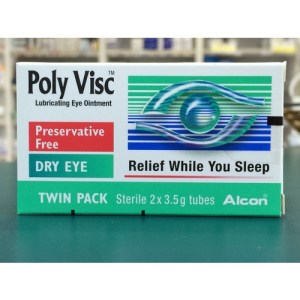 Poly Visc Lubricating Eye Ointment 2 x 3.5g Twin Pack