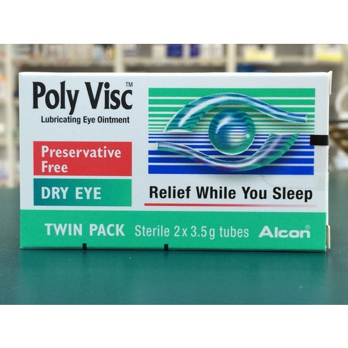 Poly Visc Lubricating Eye Ointment 2 x 3.5g Twin Pack 3