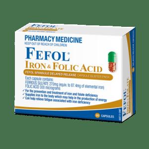 Fefol Iron & Folate Supplement Capsules 30