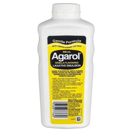 Agarol Vanilla Flavoured Laxative Emulsion 500mL 3