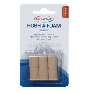 Surgipack Hush A Foam Ear Plus 3 Pairs