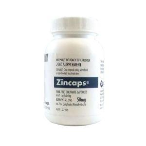 Zincaps 50mg Sulphate Capsules 100