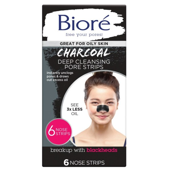 Biore Deep Cleansing Charcoal Pore Strip – 6 Pack