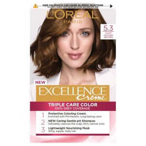 L'Oreal Excellence Permanent Hair Colour-5.3 Golden Brown