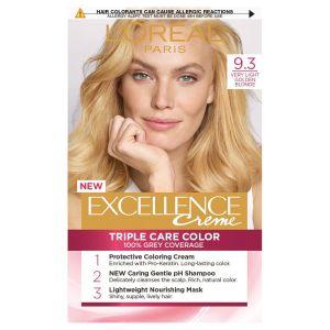 L'Oreal Excellence Permanent Hair Colour-9.3 Light Golden Blonde