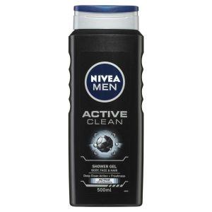 Nivea Active Clean Charcoal Shower Gel 500ml