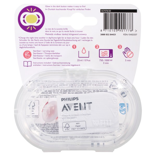 Avent Ultra Air Night BPA Free Soother 6-18m 2 Pack 4