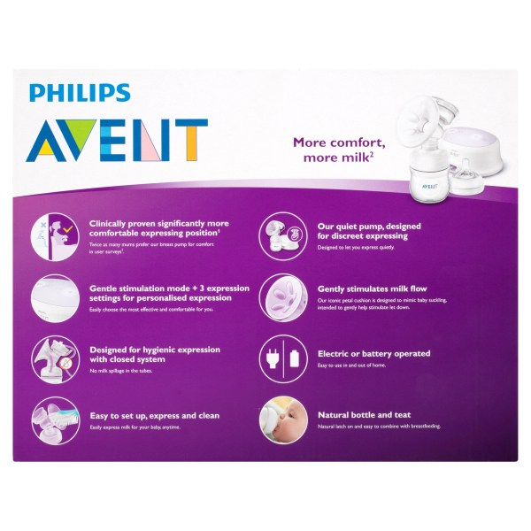 Avent Ultra Comfort Single Electric Breast Pump (OOS 14/07/2021 – POWELL) 5