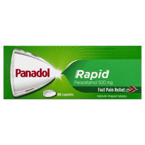 Panadol Rapid Paracetamol Pain Relief 80 Caplets