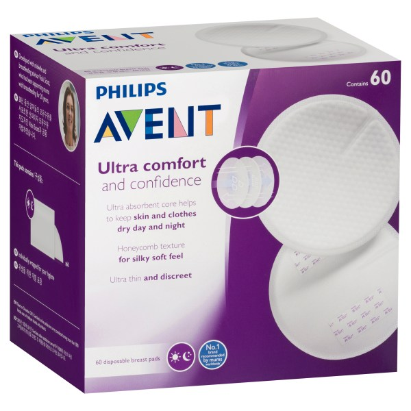 Philips Avent Ultra Comfort Disposable Breast Pads 60 Pack 4