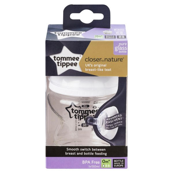 Tommee Tippee Closer To Nature Glass Bottle, 150ML 3