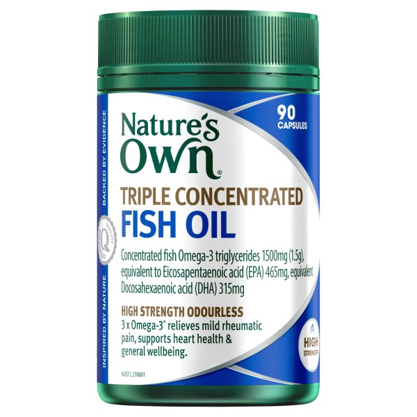 Nature's Own Triple Concentrated Fish Oil – 90 Capsules 3