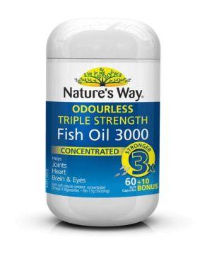 Nature's Way Fish OIL Triple Strength Fish Oil 60+10 Capsules