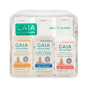 GAIA Natural Baby Mini Traveller Kit 50mL 3 Pack
