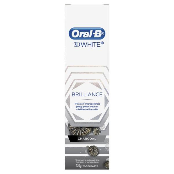 Oral B Toothpaste 3D White Brilliance Charcoal 120g 6