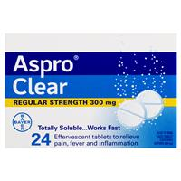 Aspro Clear Pain Relief 24 Soluble Tablets 4