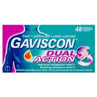 Gaviscon Dual Action Tablets for Heartburn and Indigestion 48 Tablets 4