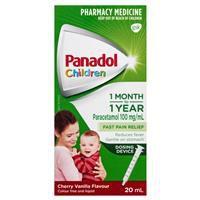 PANADOL CHILD 1M-1YR CHERRY VANILLA WITH DOSING DEVICE 20ML 4