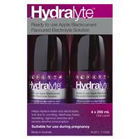Hydralyte Electrolyte Apple Blackcurrant Solution 4x250ml 4