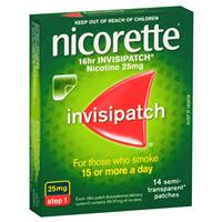 Nicorette Quit Smoking 16hr Invisipatch 25mg 14 Patches