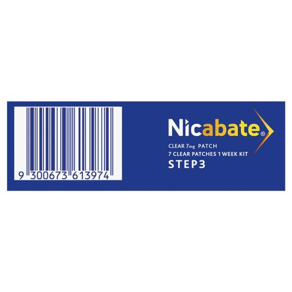 Nicabate Clear 7 Patch 3 Step 7mg 6