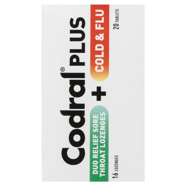 Codral Plus Sore Throat Lozenges & Cold and Flu 20 Tablets 6