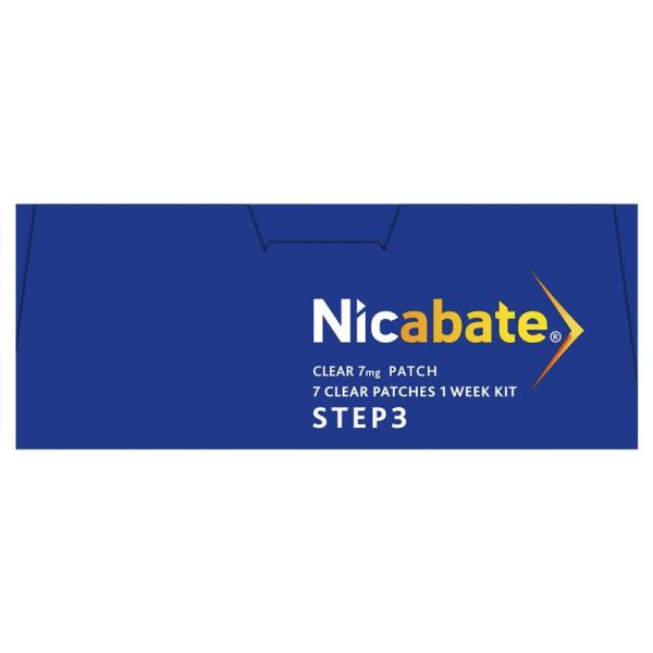 Nicabate Clear 7 Patch 3 Step 7mg 7