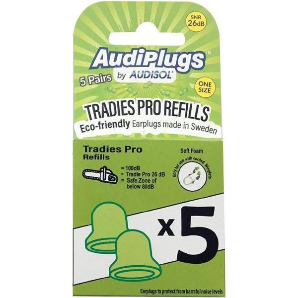 Audiplugs Tradies Pro Refills 5 Pairs 3