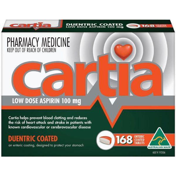 Cartia 168 Tablets 100mg 4
