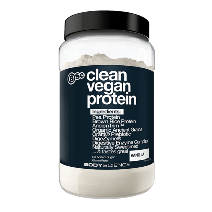 BSC Clean Vegan Protein Body Science Natural Powder 1kg