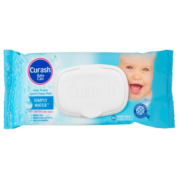 Curash Babycare Simply Water Baby Wipes 80 Pack 3