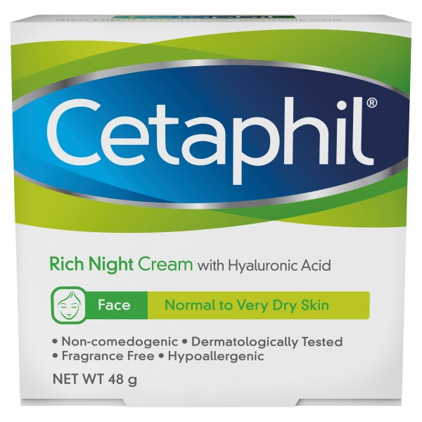 Cetaphil Face Rich Night Cream 48g, Dry Skin