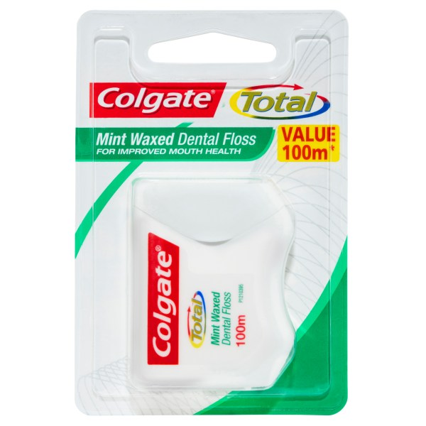 Colgate Total Mint Waxed Durable Oral Care Dental Floss Value Pack 100m 4