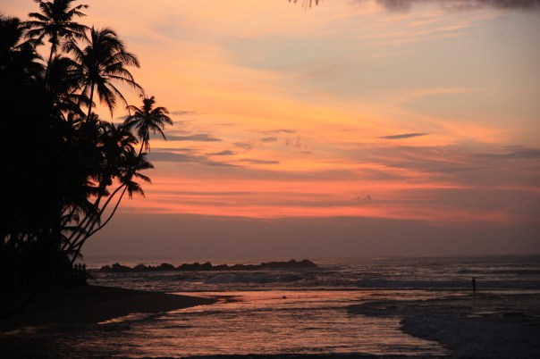 Sunrise in Sri Lanka - well worth an infected knee