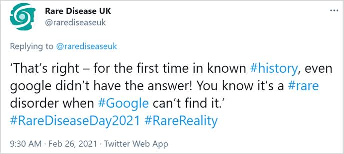 Rare Disease day tweet